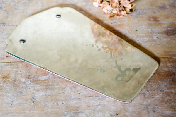 Miroir ancien style Art déco avec tain patiné