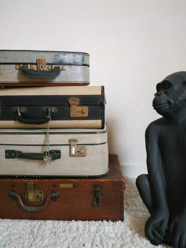 Sublime accessoire de déco à elle seule ou associée à d'autres valises en bout de canapé, cette valise ancienne apportera une touche déco vintage élégante dans un dressing, dans une salle de bain,