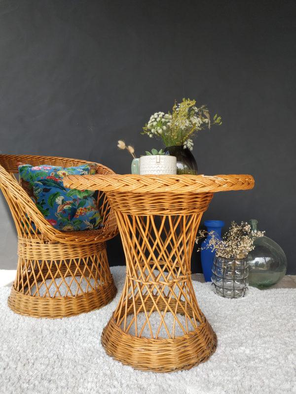 Ce duo en fibres naturelles vintage sera également parfait dans une chambre que ce soit pour un adulte ou un enfant.