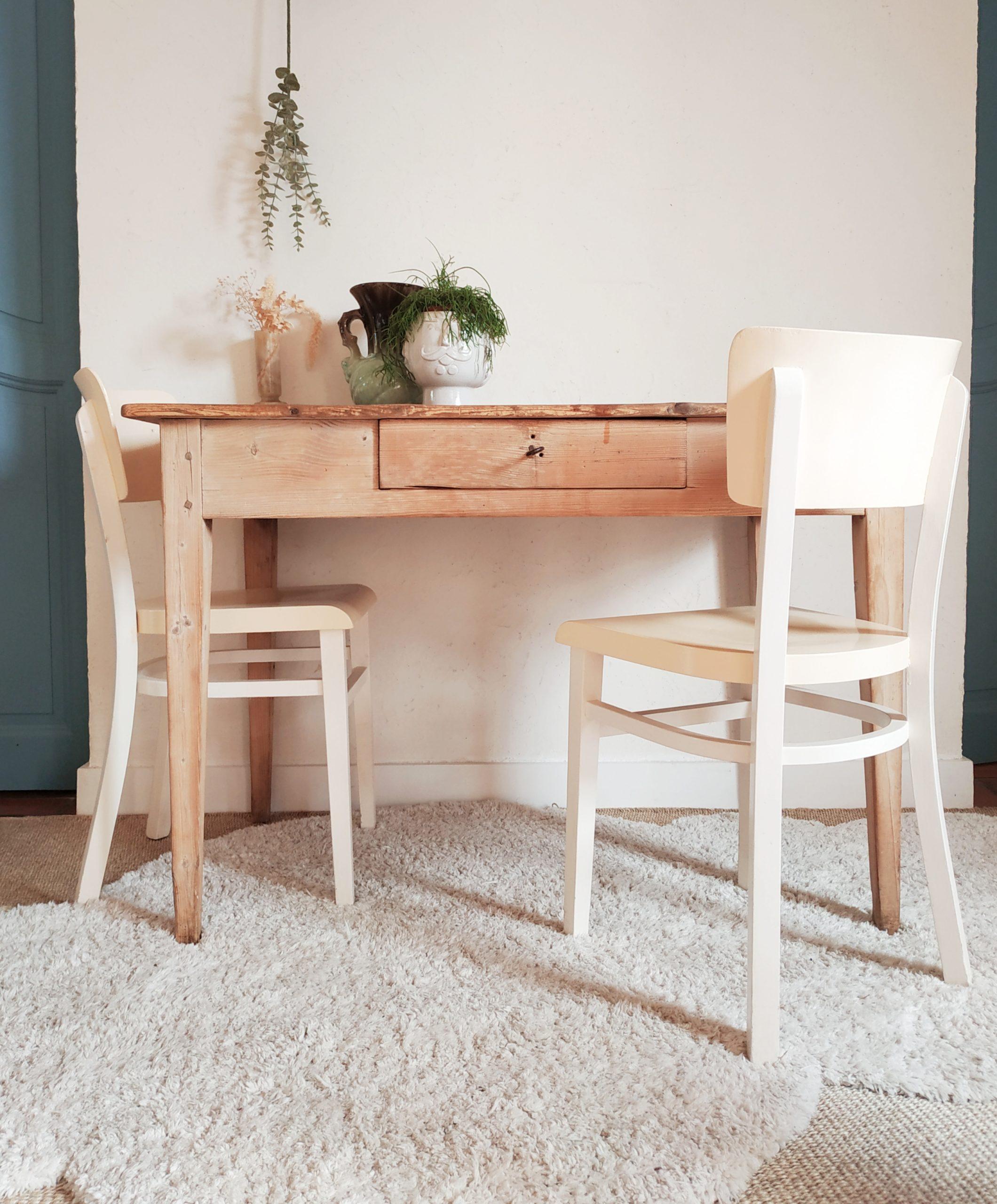 Table de ferme ancienne en bois   Factory Vintage