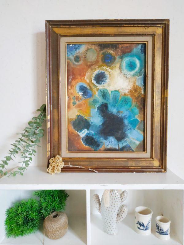 Belle peinture à l'huile ancienne.