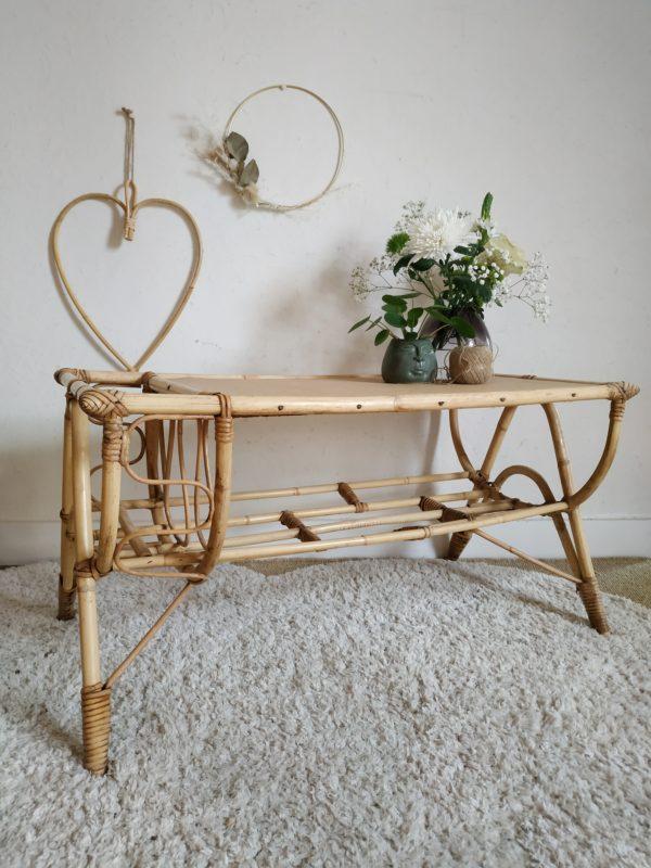 Une douceur se dégage de cette table basse vintage.