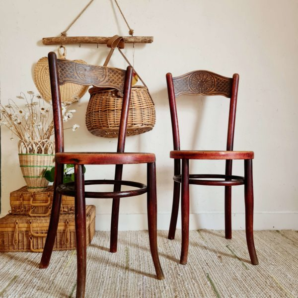 Ces chaises viendront agrémentées des chaises bistrot autour d'une table de ferme ou rétro pour apporter leur look élégant et raffiné.