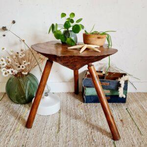 Table en bois ancienne tripode